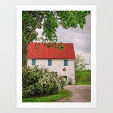 Barn at The Farm Art Print