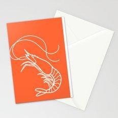 Orange Shrimp Stationery Cards