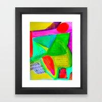 Marina I - Abstract Painting Framed Art Print