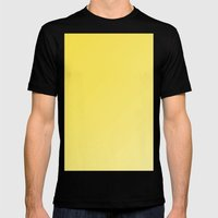 Beautiful buttercup yellow gradient Mens Fitted Tee Black SMALL