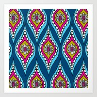 Retro Pattern Art Print
