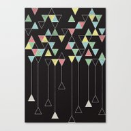 Canvas Print featuring Dark Triangles III by Metron