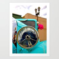 Headlight Americana Art Print