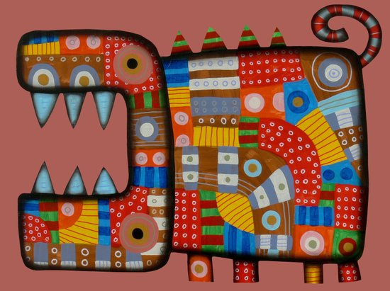Dog hippo Art Print