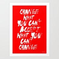 Accept / Change Art Print