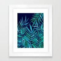 Watercolor Palm Leaves O… Framed Art Print