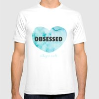 Obsessed with your smile Mens Fitted Tee White SMALL