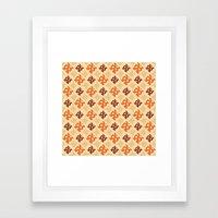 Fall Diamonds Framed Art Print