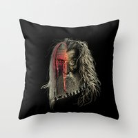 Evil Border Throw Pillow