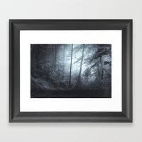 Blue Mystic ForesT Framed Art Print