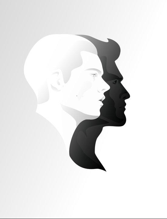 Sterek in Profile Art Print