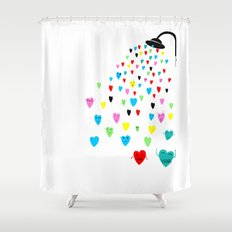 Love shower Shower Curtain