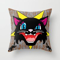 Pussy Galore Throw Pillow