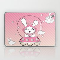Space Bunny Flying Laptop & iPad Skin