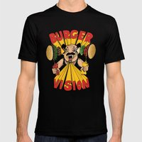 Burger Vision Mens Fitted Tee Black SMALL