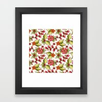 Red Sweet Flowers Framed Art Print