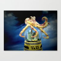 Octopus Attacks New York! Canvas Print