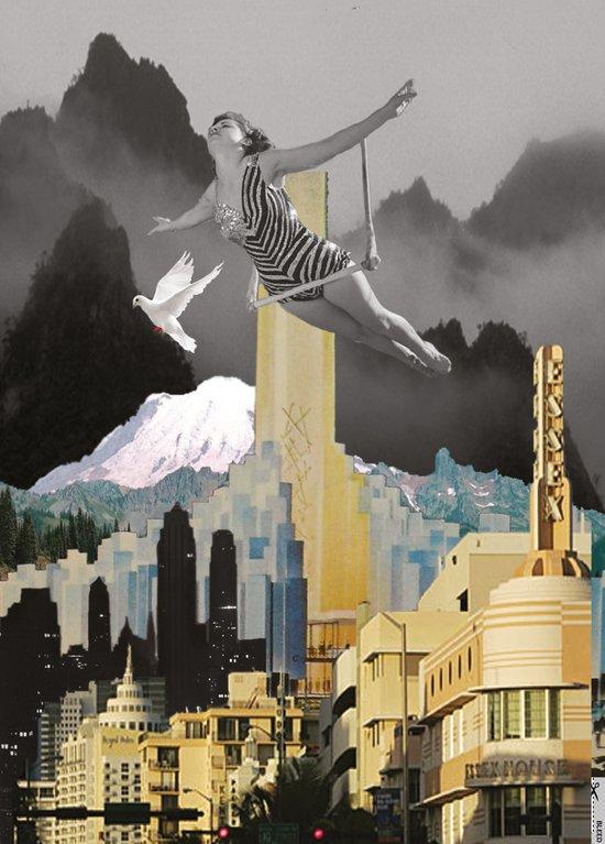 Trapeze Artist Dreams Art Print