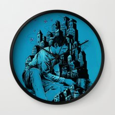 The Village Painter Wall Clock