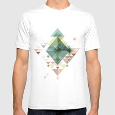 Abstract illustration SMALL White Mens Fitted Tee