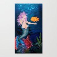 Pacific Mermaid Canvas Print