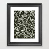 Death Of The Roses Framed Art Print