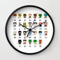 Star Wars Alphabet Wall Clock