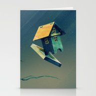 Flying Bird...house Stationery Cards
