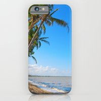 iPhone Cases featuring Coconut palms on beach by Wendy Townrow