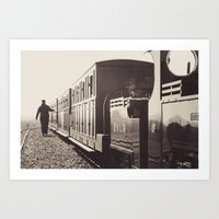 Evesham Railway Art Print