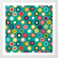 turquoise pop spot Art Print