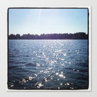 Sparkle Water Color Photography Canvas Print