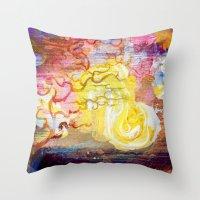 Vegan Eggyolk Behind A T… Throw Pillow