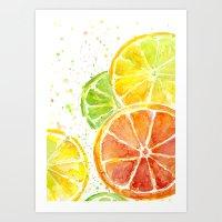Fruit Watercolor Art Print