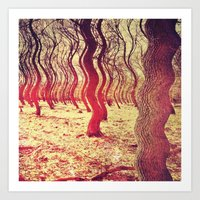 Trippy Forest Art Print