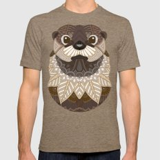 Ornate Otter Mens Fitted Tee Tri-Coffee SMALL