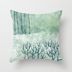 Cold Hedgerow Throw Pillow