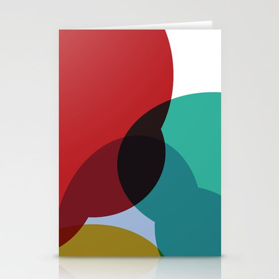 Colorful Blob Stationery Card