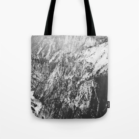 Canyon Black and White Tote Bag