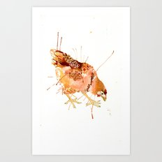 Cheeky Chicken Art Print