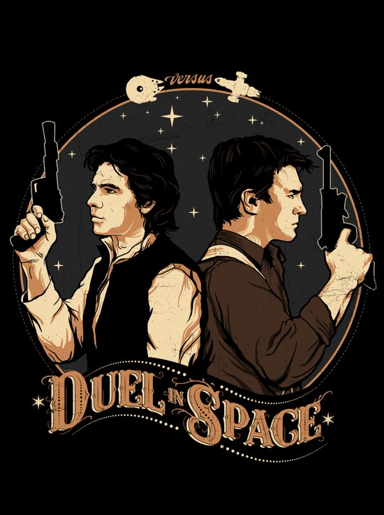Duel in Space Art Print