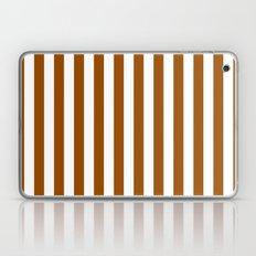 Vertical Stripes (Brown/White) Laptop & iPad Skin