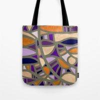 Gaudy Gaudi orange & purple Tote Bag