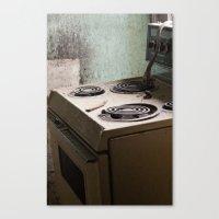 river stove Canvas Print