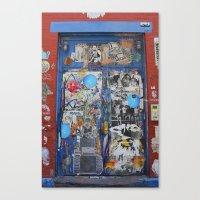 Graffiti Door NYC Canvas Print