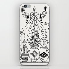 Santa Fe Garden – Black Ink iPhone & iPod Skin