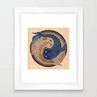 shuiwudáo yin yang mandala Framed Art Print