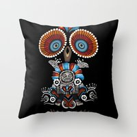 Mexican Owl Throw Pillow