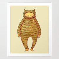 Fangs Monster Illustration Art Print
