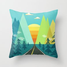 the Long Road Throw Pillow
